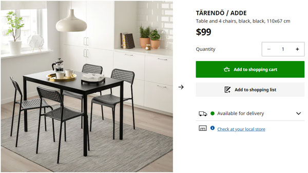 You can afford to move out by buying inexpensive furniture, like this IKEA dining set.