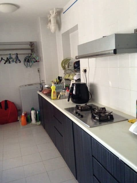 The shared kitchen of the S$800 room