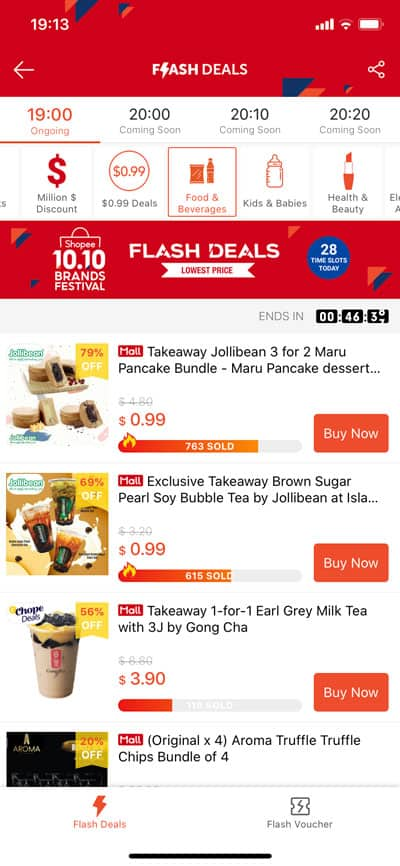 Shopee Flash Deals for $1