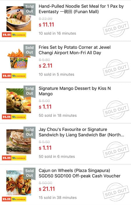 Online Food Deals