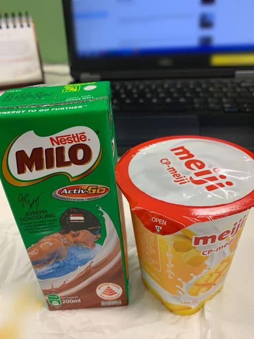 Milo and Yoghurt